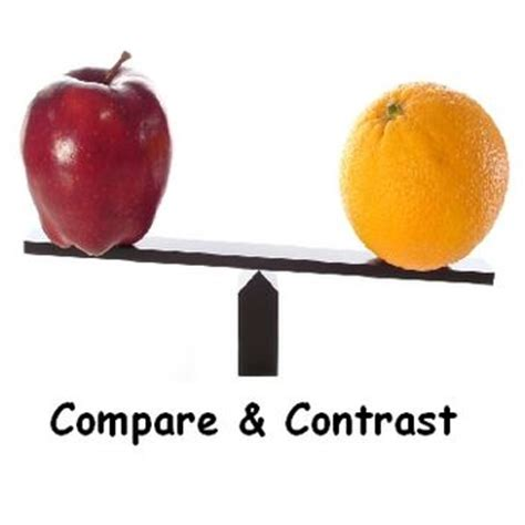 Thesis and Essay: How to write a good compare and contrast